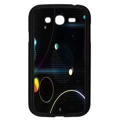 Glare Light Luster Circles Shapes Samsung Galaxy Grand DUOS I9082 Case (Black)