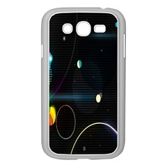 Glare Light Luster Circles Shapes Samsung Galaxy Grand DUOS I9082 Case (White)