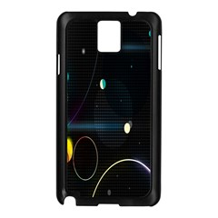Glare Light Luster Circles Shapes Samsung Galaxy Note 3 N9005 Case (Black)