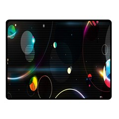 Glare Light Luster Circles Shapes Double Sided Fleece Blanket (Small)