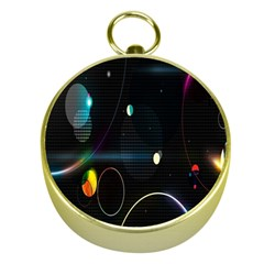 Glare Light Luster Circles Shapes Gold Compasses
