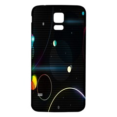 Glare Light Luster Circles Shapes Samsung Galaxy S5 Back Case (White)