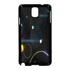 Glare Light Luster Circles Shapes Samsung Galaxy Note 3 Neo Hardshell Case (black)