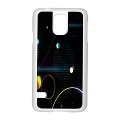 Glare Light Luster Circles Shapes Samsung Galaxy S5 Case (White)