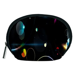 Glare Light Luster Circles Shapes Accessory Pouches (Medium)