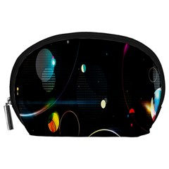 Glare Light Luster Circles Shapes Accessory Pouches (Large)