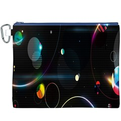 Glare Light Luster Circles Shapes Canvas Cosmetic Bag (xxxl)