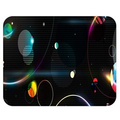 Glare Light Luster Circles Shapes Double Sided Flano Blanket (Medium)