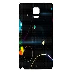 Glare Light Luster Circles Shapes Galaxy Note 4 Back Case