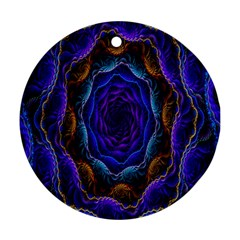 Flowers Dive Neon Light Patterns Ornament (round)