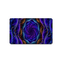 Flowers Dive Neon Light Patterns Magnet (Name Card)