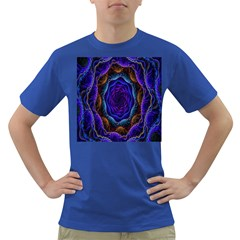 Flowers Dive Neon Light Patterns Dark T-Shirt