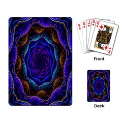 Flowers Dive Neon Light Patterns Playing Card