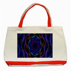 Flowers Dive Neon Light Patterns Classic Tote Bag (Red)