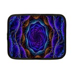 Flowers Dive Neon Light Patterns Netbook Case (Small)  Front