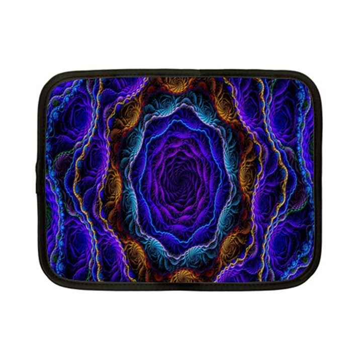 Flowers Dive Neon Light Patterns Netbook Case (Small)