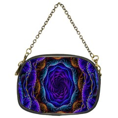 Flowers Dive Neon Light Patterns Chain Purses (One Side)