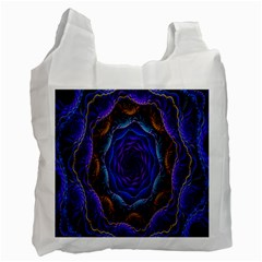 Flowers Dive Neon Light Patterns Recycle Bag (One Side)