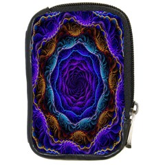 Flowers Dive Neon Light Patterns Compact Camera Cases