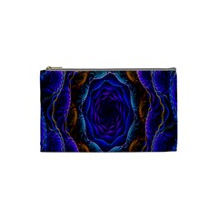Flowers Dive Neon Light Patterns Cosmetic Bag (Small)