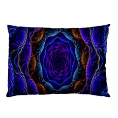 Flowers Dive Neon Light Patterns Pillow Case (two Sides)