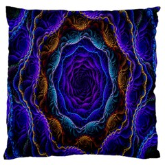 Flowers Dive Neon Light Patterns Large Cushion Case (Two Sides)