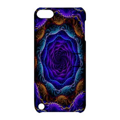 Flowers Dive Neon Light Patterns Apple Ipod Touch 5 Hardshell Case With Stand