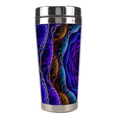 Flowers Dive Neon Light Patterns Stainless Steel Travel Tumblers