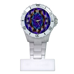 Flowers Dive Neon Light Patterns Plastic Nurses Watch