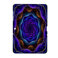 Flowers Dive Neon Light Patterns Samsung Galaxy Tab 2 (10.1 ) P5100 Hardshell Case