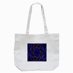 Flowers Dive Neon Light Patterns Tote Bag (white)