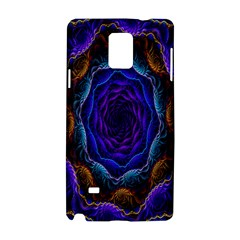 Flowers Dive Neon Light Patterns Samsung Galaxy Note 4 Hardshell Case