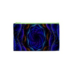 Flowers Dive Neon Light Patterns Cosmetic Bag (XS)