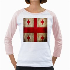 Georgia Flag Mud Texture Pattern Symbol Surface Girly Raglans