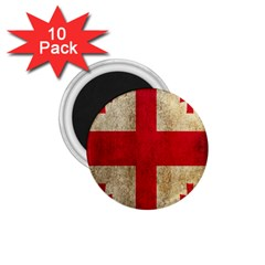 Georgia Flag Mud Texture Pattern Symbol Surface 1.75  Magnets (10 pack)