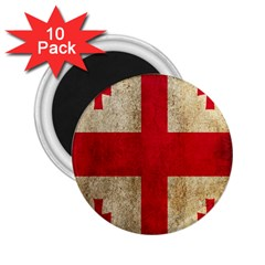 Georgia Flag Mud Texture Pattern Symbol Surface 2.25  Magnets (10 pack)