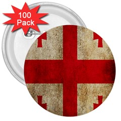 Georgia Flag Mud Texture Pattern Symbol Surface 3  Buttons (100 pack)