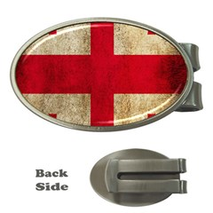 Georgia Flag Mud Texture Pattern Symbol Surface Money Clips (oval)