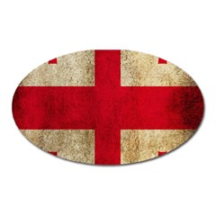 Georgia Flag Mud Texture Pattern Symbol Surface Oval Magnet