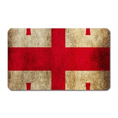 Georgia Flag Mud Texture Pattern Symbol Surface Magnet (Rectangular)
