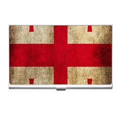 Georgia Flag Mud Texture Pattern Symbol Surface Business Card Holders