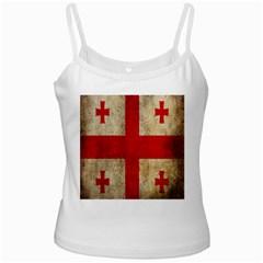 Georgia Flag Mud Texture Pattern Symbol Surface Ladies Camisoles
