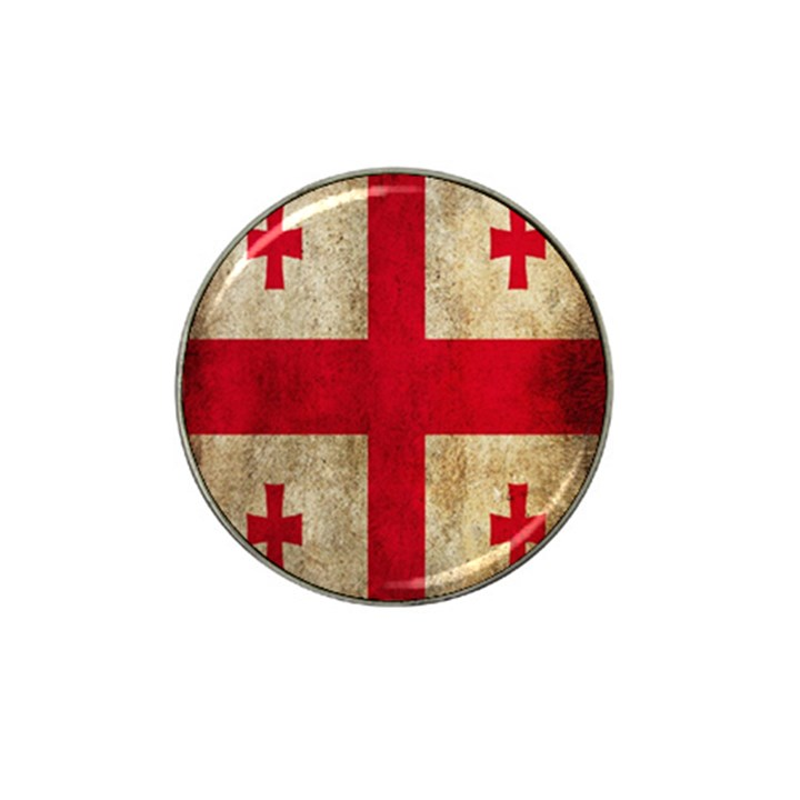 Georgia Flag Mud Texture Pattern Symbol Surface Hat Clip Ball Marker (4 pack)
