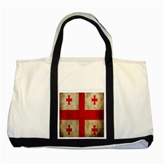Georgia Flag Mud Texture Pattern Symbol Surface Two Tone Tote Bag