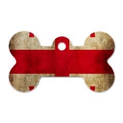 Georgia Flag Mud Texture Pattern Symbol Surface Dog Tag Bone (two Sides)