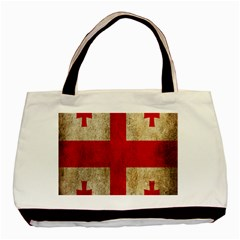 Georgia Flag Mud Texture Pattern Symbol Surface Basic Tote Bag (two Sides)