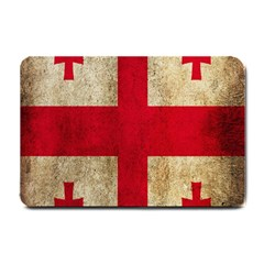 Georgia Flag Mud Texture Pattern Symbol Surface Small Doormat