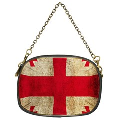 Georgia Flag Mud Texture Pattern Symbol Surface Chain Purses (One Side)