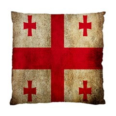 Georgia Flag Mud Texture Pattern Symbol Surface Standard Cushion Case (two Sides)