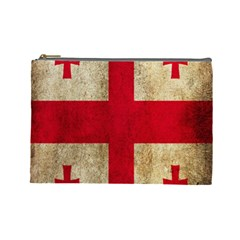 Georgia Flag Mud Texture Pattern Symbol Surface Cosmetic Bag (Large)